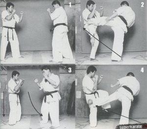 Подготовка бойца от Хироки Куросава - Лоу-кик через атаку ногами