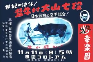 Ояма Масутацу бои с быками