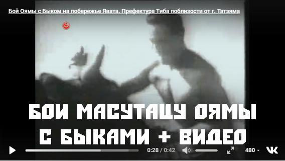Бои Масутацу Оямы с быками + видео
