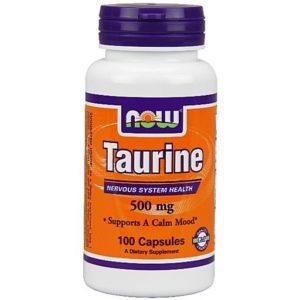 Таурин  умеренно стимулирует центральную нервную систему