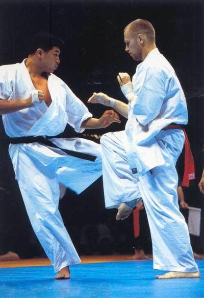 Полуфинал чемпионата мира по весовым категориям 2001 года. Жертвой разящего сверхскоростного дзёдан маваси-гэри Осипова стала надежда Японии Танака Кэнтаро.