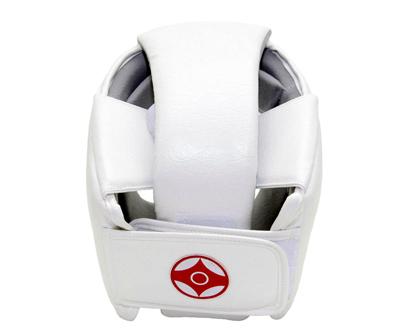 Шлем для киокусинкай каратэ с защитой верха головы (экокожа) 2