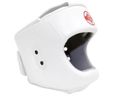 Шлем для Киокусинкай каратэ с защитой подбородка (экокожа)
